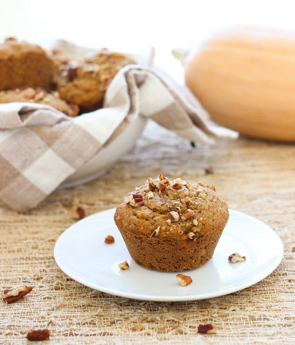 Maple Butternut Squash Muffins from Making Thyme for Health - #glutenfree #healthy #breakfast #brunch