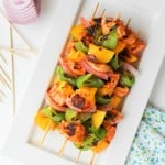 Harissa Teriyaki Grilled Chicken Skewers with Mango | theroastedroot.net #grilled #bbq #healthy @roastedroot