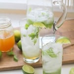 Honey Mint Mojitos - naturally sweetened and easy to make!   theroastedroot.net#sugarfree #cocktail #recipe