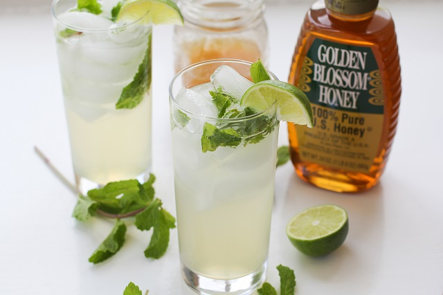 Honey Mint Mojitos - naturally sweetened and easy to make! | theroastedroot.net#sugarfree #cocktail #recipe