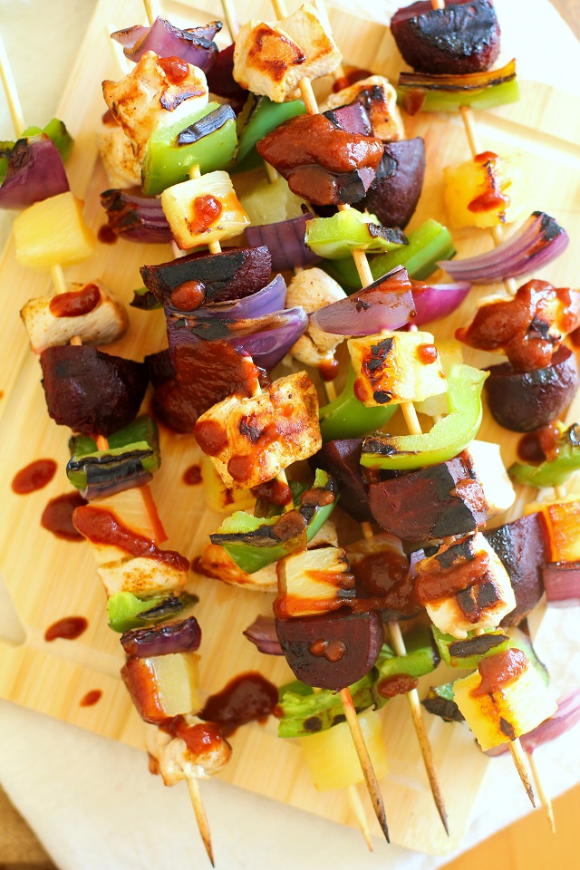 Grilled Chicken and Veggie Kabobs