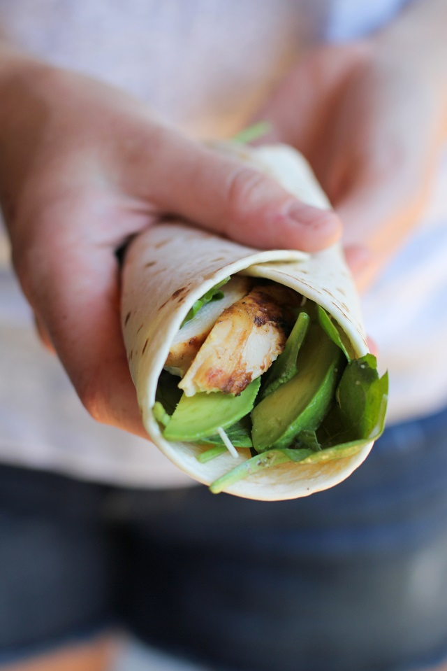 Grilled Chicken Caesar Wraps | theroastedroot.net #dinner #recipe #bbq