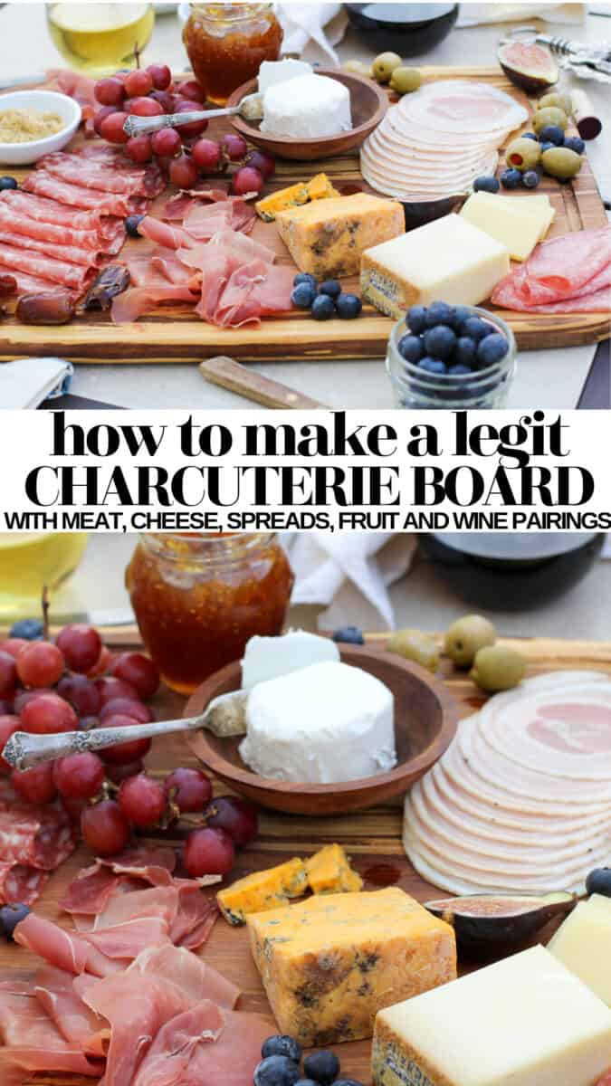 How to make a crowd-pleasing charcuterie board, complete with cheese and meat selections, wine pairings, and suggestions for incorporating seasonal ingredients to make a winning wine and cheese board any time of year!