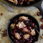 Grain-Free Cherry Crumble - a paleo dessert that's healthy enough for breakfast | theroastedroot.net #vegan #recipe #healthy #glutenfree #sugarfree