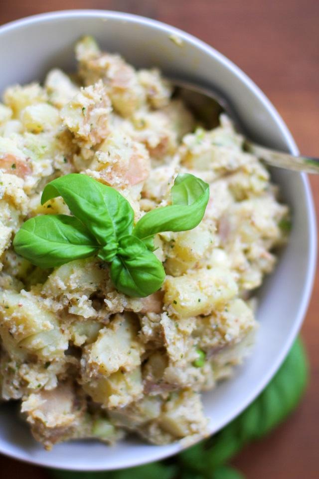 Ricotta Pesto Potato Salad   TheRoastedRoot.net #healthy #side_dish #vegetarian