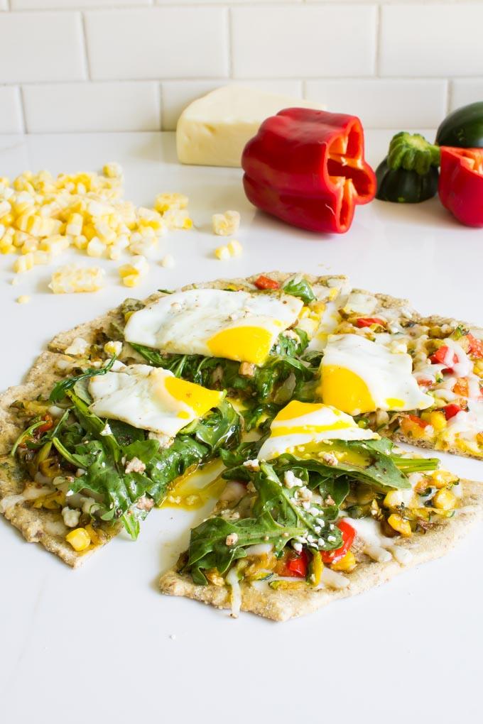 Shredded Zucchini Fontina Breakfast Pizza + 6 Healthy Zucchini Recipes