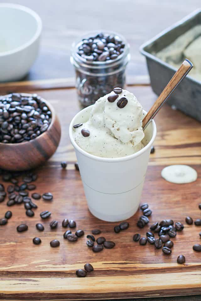 Paleo Coffee Ice Cream - a dairy-free, refined sugar-free, healthier version of the classic dessert