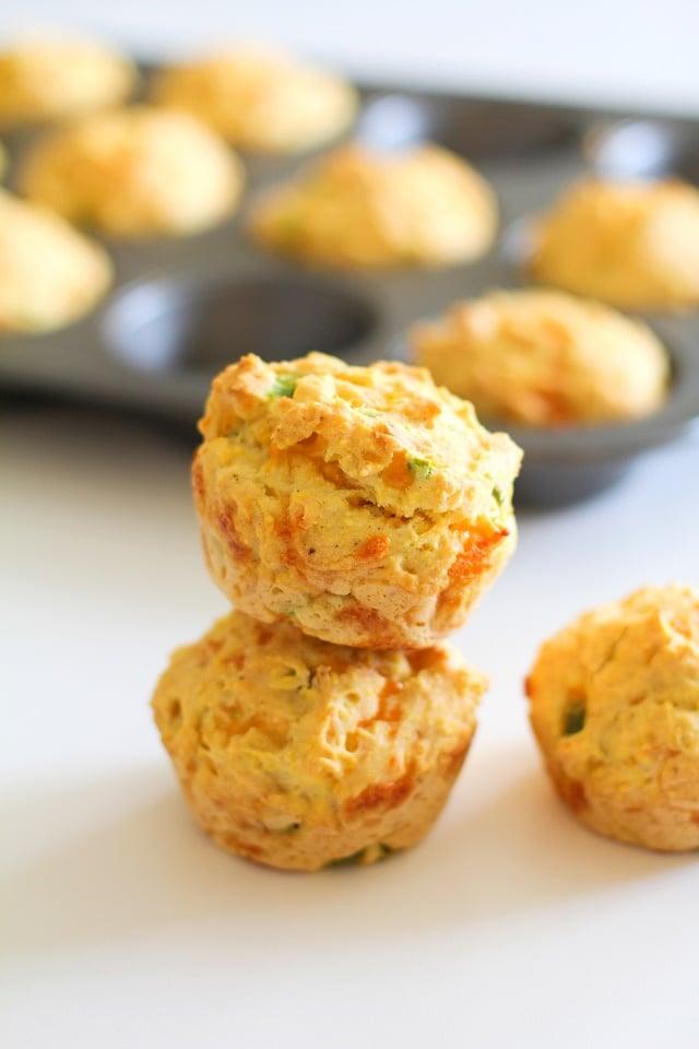 Gluten-Free Jalapeno Cheddar Cornbread Muffins | TheRoastedRoot.net #recipe @bobsredmill