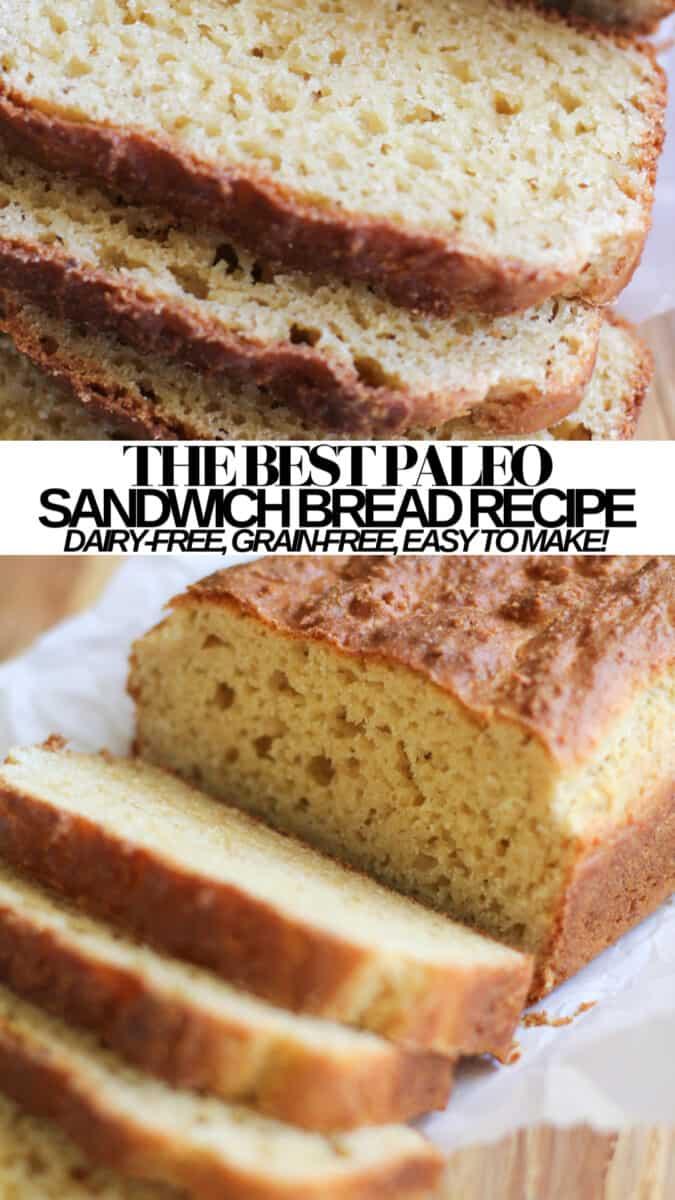 The BEST Paleo Sandwich Bread Recipe - easy grain-free sliced bread made with almond flour. Gluten-Free, Refined sugar-free, dairy-free, healthy sandwich bread