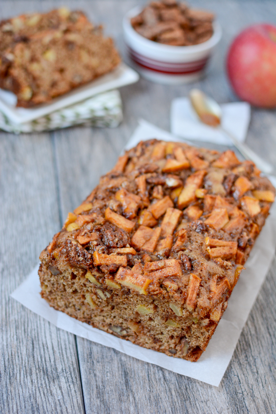 Caramel Apple Bread + 5 Healthy Apple Recipes