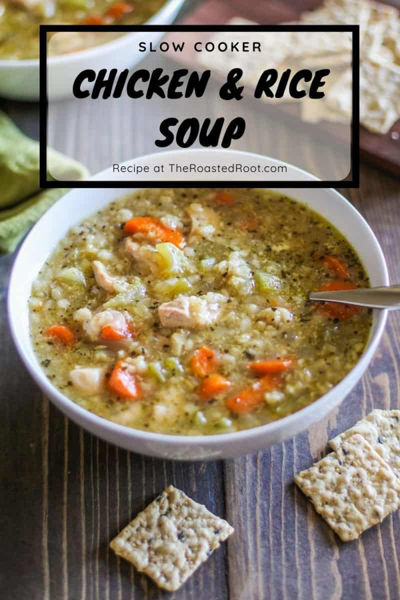 Crock Pot Chicken Soup with Rice - an easy recipe made conveniently in your crock pot or slow cooker! Recipe post includes Instant Pot instructions.