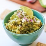 Bacon Guacamole with Queso Fresco - Best.guac.evah!! | TheRoastedRoot.net