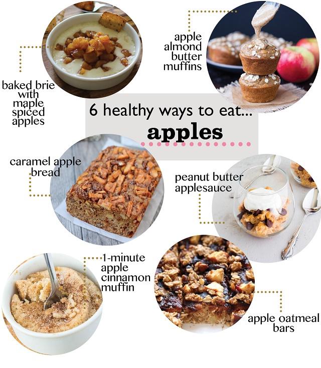 6 Healthy Apple Recipes! #glutenfree #sugarfree