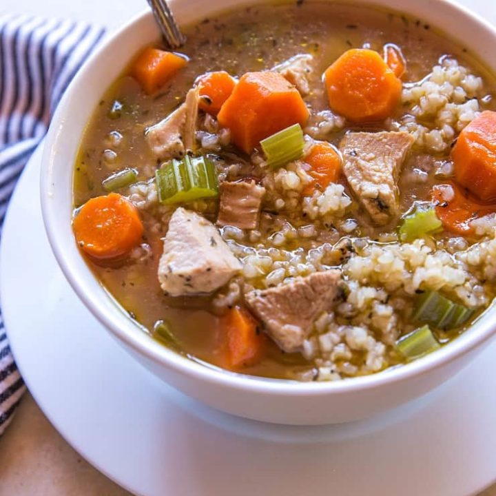 Crock Pot Chicken and Rice Soup - an easy recipe for healthy weeknight meal prep   TheRoastedRoot.net