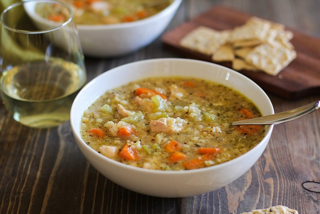 Crock Pot Chicken and Rice Soup - a super easy and healthy meal made ...