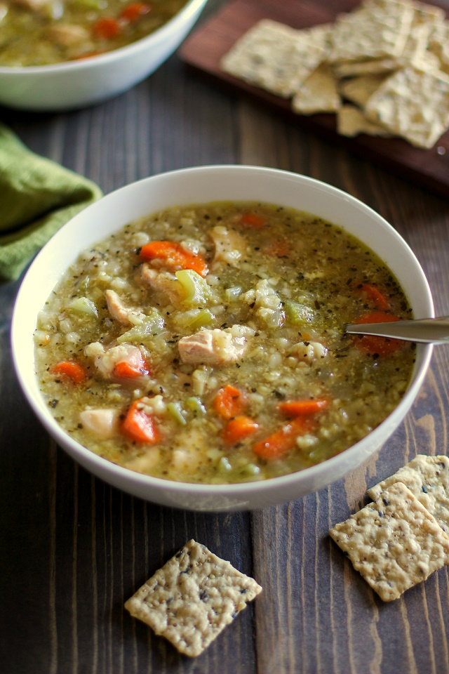 Crock pot chicken and rice soup the roasted root crock pot chicken and rice soup a super easy and healthy meal made in the forumfinder Choice Image