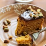 Gluten-Free Kabocha Squash Spice Cake with Chai Caramel - naturally sweetened and healthy! | TheRoastedRoot.net #cake #dessert #healthy #fall #recipe