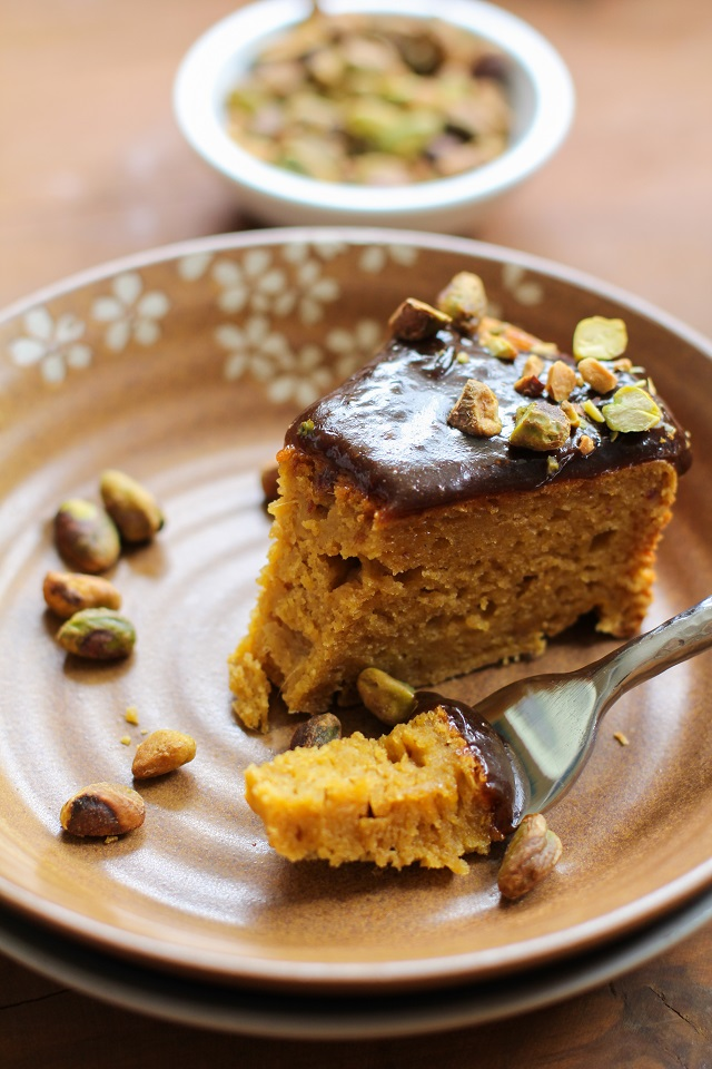 Kabocha Squash Spice Cake with Chai Caramel - The Roasted Root