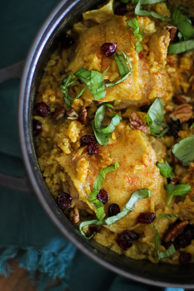 One-Pot Chicken Biryani - a healthy and filling paleo meal | TheRoastedRoot.net #recipe #glutenfree #dinner