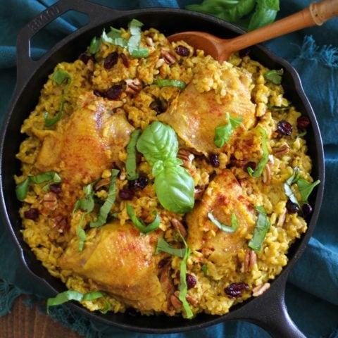 One-Pot Chicken Biryani - a healthy and filling paleo meal   TheRoastedRoot.net #recipe #glutenfree #dinner