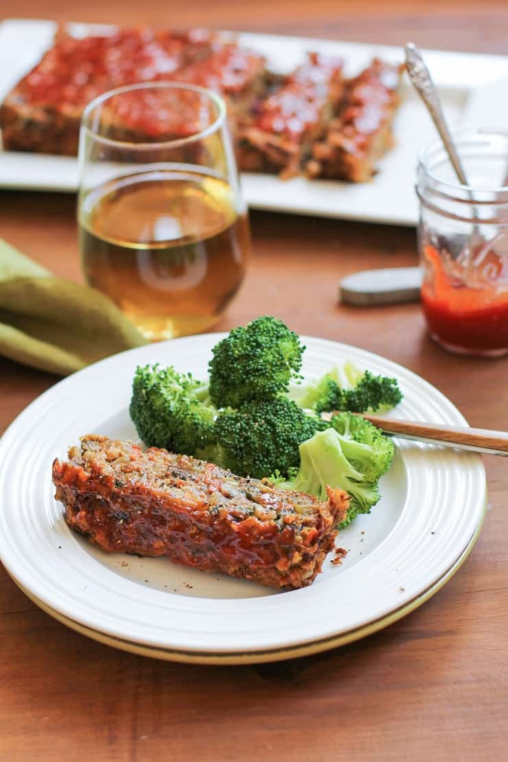 Thai Lentil Vegan Meatloaf with Marmalade Glaze | TheRoastedRoot.net #vegetarian #dinner #recipe #glutenfree