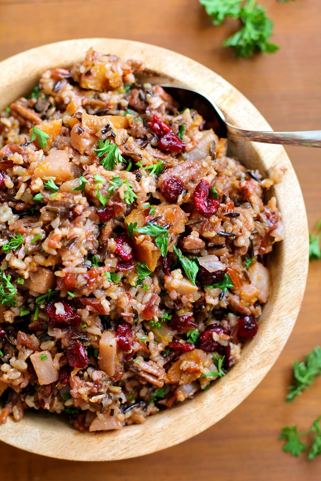 wild rice fruit and pecan stuffing recipes dishmaps wild rice fruit ...