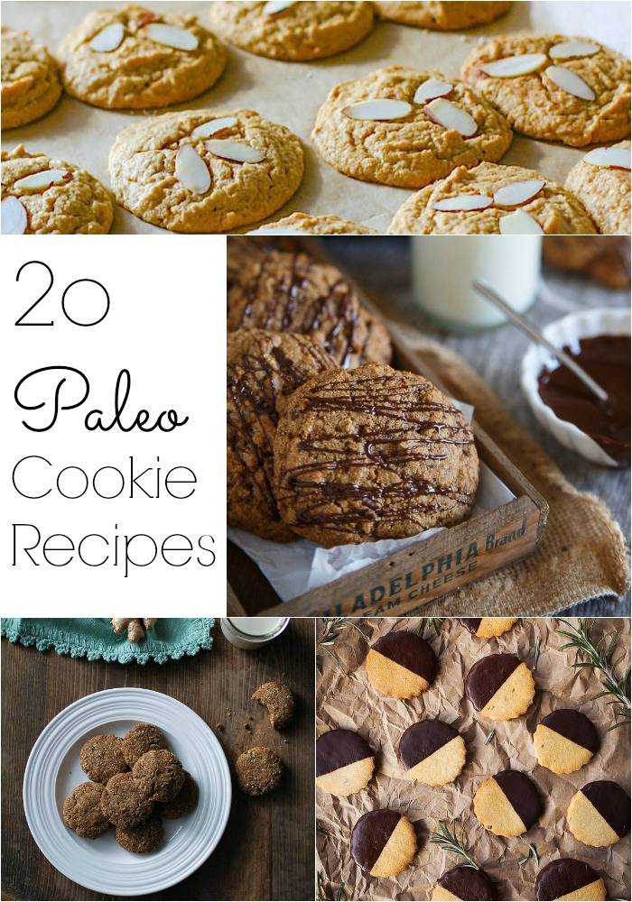 20 Paleo Cookie Recipes for the holidays TheRoastedRoot.net #glutenfree #healthy