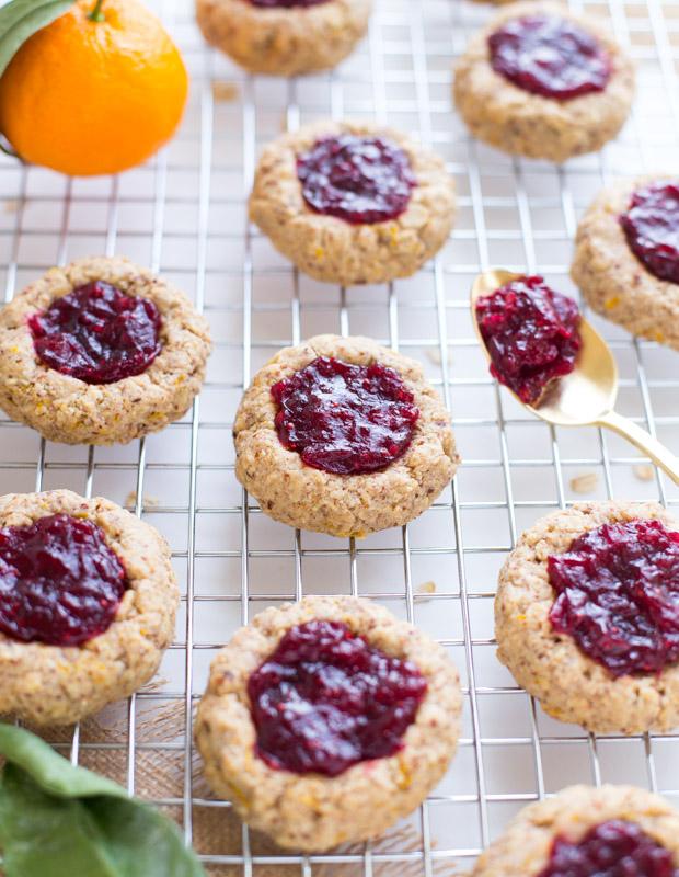 Cranberry Orange Thumbprint Cookies + 5 Healthy Cranberry Recipes