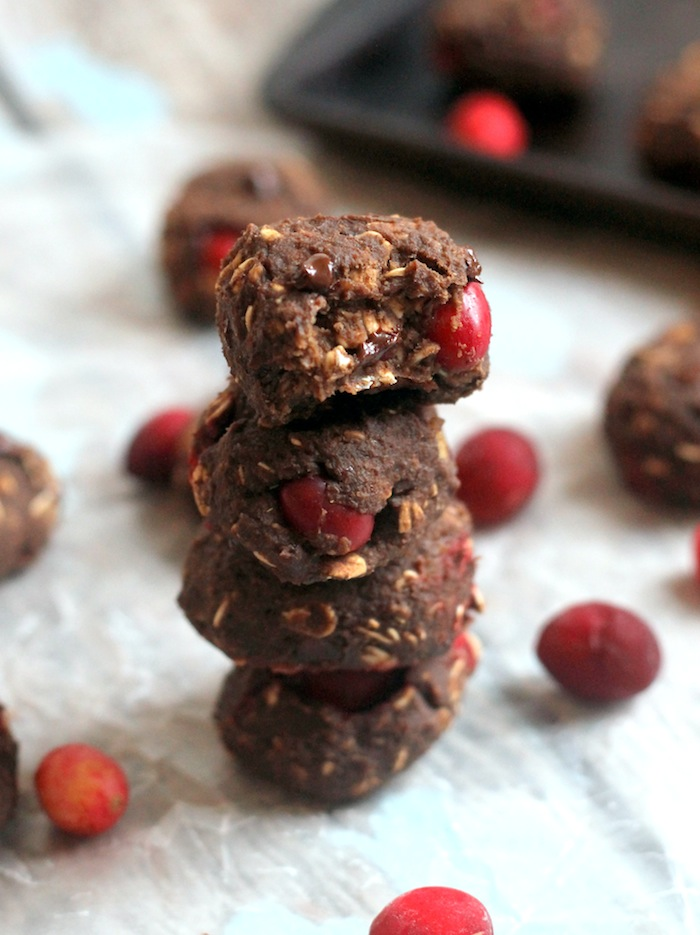 Cranberry Chocolate Protein Cookies + 5 Healthy Cranberry Recipes