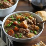 Crock Pot Beef Stew - an easy and hearty recipe made in your slow cooker | TheRoastedRoot.net #recipe #dinner #meal #glutenfree