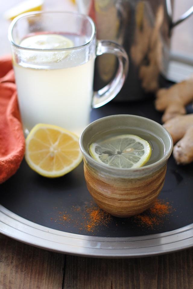 Lemon-Ginger Detox Toddy - an immunity boosting elixir TheRoastedRoot.net #healthy #drink #recipe #tea