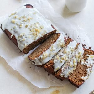Paleo Gingerbread Loaf - Grain-free, naturally sweetened, moist, healthy, and delicious!