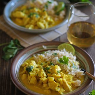 30-Minute Thai Chicken Yellow Curry | TheRoastedRoot.net #dinner #recipe #glutenfree #healthy