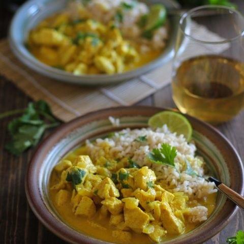 30-Minute Thai Chicken Yellow Curry | TheRoastedRoot.net #dinner #recipe #glutenfree #healthy