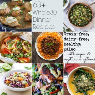 63+ Whole30 Dinner Recipes   TheRoastedRoot.net #newyear #healthy #glutenfree #paleo