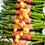 Prosciutto-Wrapped Asparagus with Balsamic Reduction and Caramelized Pears   TheRoastedRoot.net #inspiredGathering #ad @mysmithsgrocery