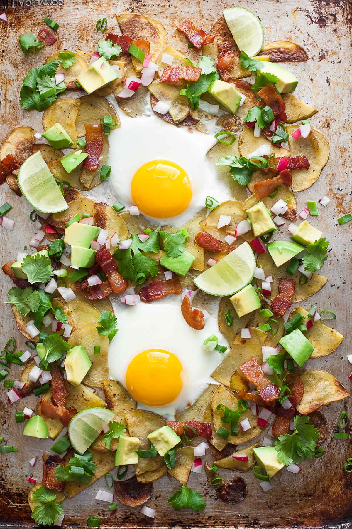 Whole30 Breakfast Nachos from A Calculated Whisk + Over 63 Whole30 Dinner Recipes | TheRoastedRoot.net