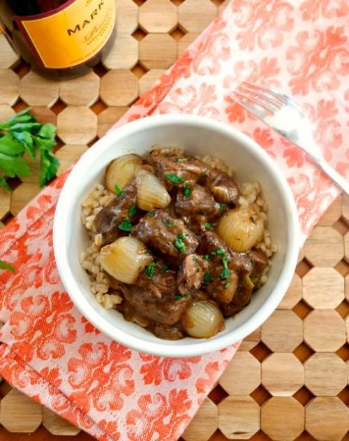 Beef Bourguignon with Barley