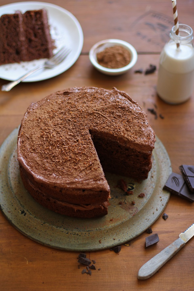 Chocolate Beet Cake with Chocolate Coconut Frosting - gluten-free and refined sugar free | TheRoastedRoot.net