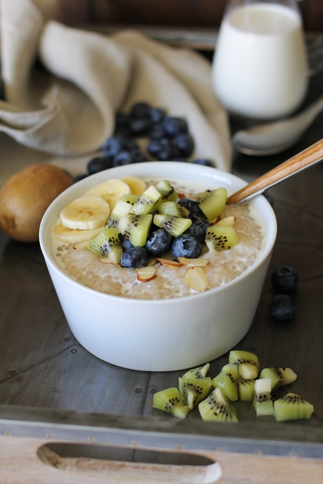Coconut Tapioca Pudding - vegan, refined sugar-free, gluten-free | TheRoastedRoot.net #healthy #recipe #dessert #breakfast #paleo