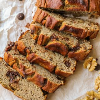 Grain-Free Chocolate Chip Banana Walnut Bread