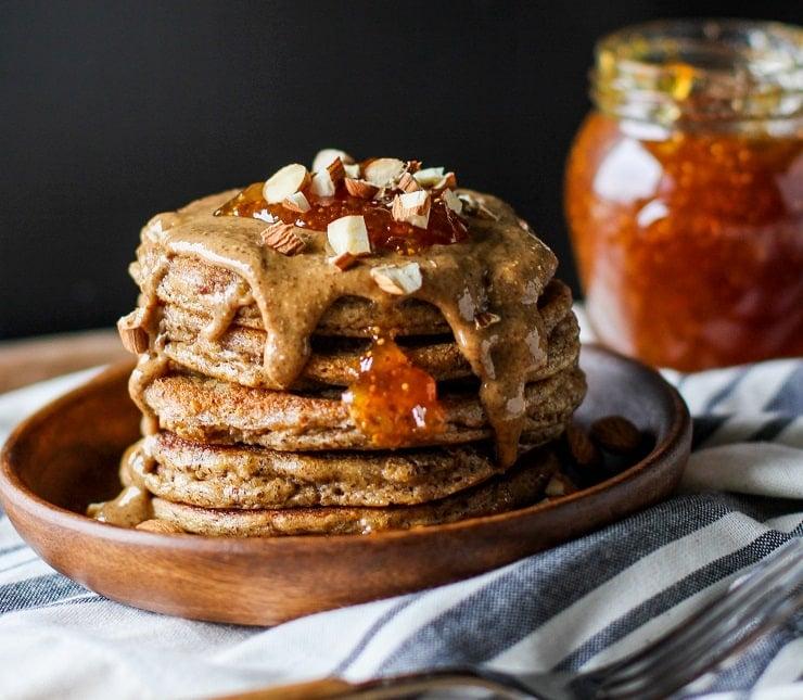 Paleo Almond Flour Protein Pancakes - keto, grain-free, dairy-free, easy healthy pancake recipe