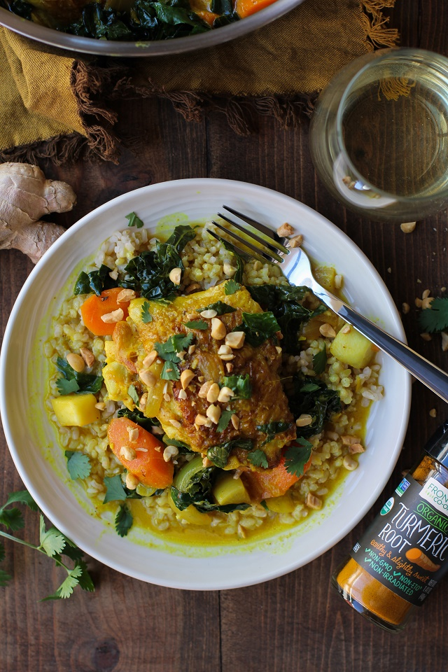 Ginger and Turmeric Braised Chicken - The Roasted Root
