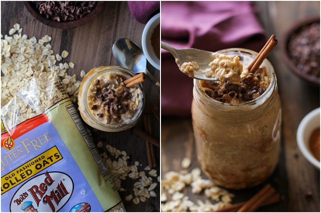 Vanilla Chai Overnight Oats | TheRoastedRoot.net #glutenfree #healthy #breakfast