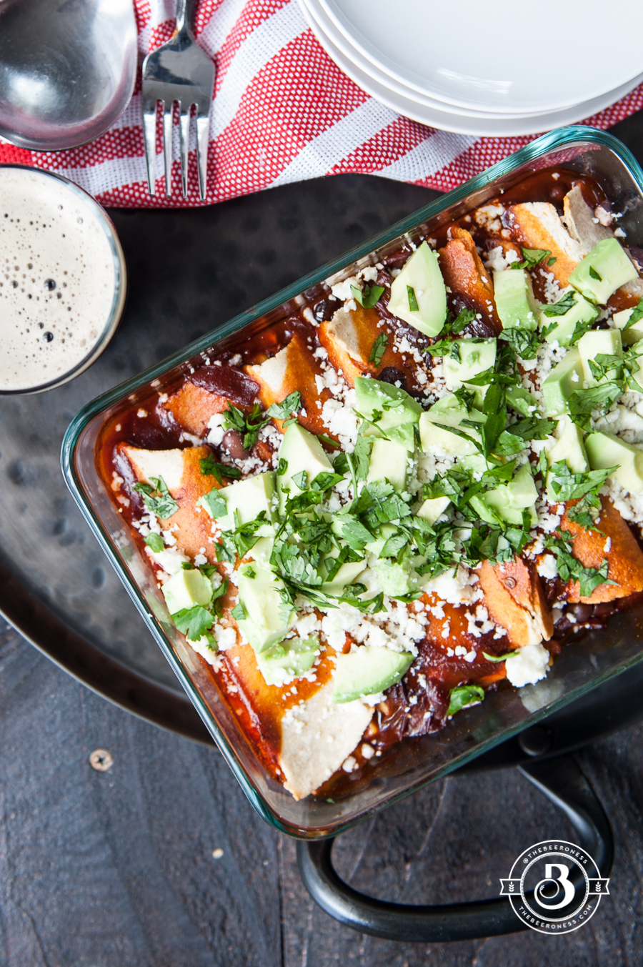 Corn and Black Bean Enchiladas with Chipotle Stout Red Sauce + 26 Recipes for a Vegetarian Cinco de Mayo