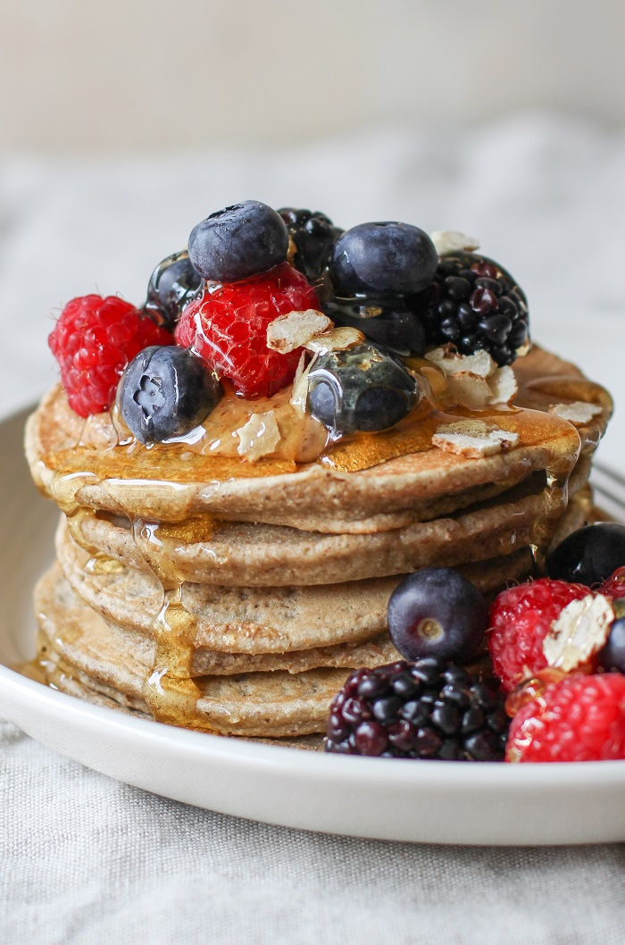 Tiger Nut Flour Pancakes grain-free and paleo | TheRoastedRoot.net #breakfast #recipe #glutenfree