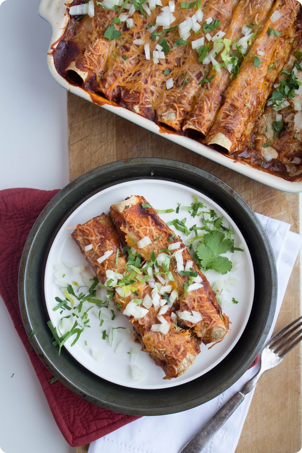 Walnut & Mushroom Vegetarian Enchiladas + 26 Recipes for a Vegetarian Cinco de Mayo