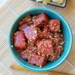 How to Make Ahi Poke - soy-free and paleo-friendly | TheRoastedRoot.net #glutenfree #appetizer #primal