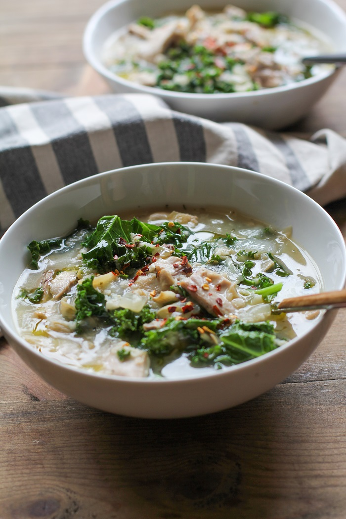 how to make kale soup in a crock pot
