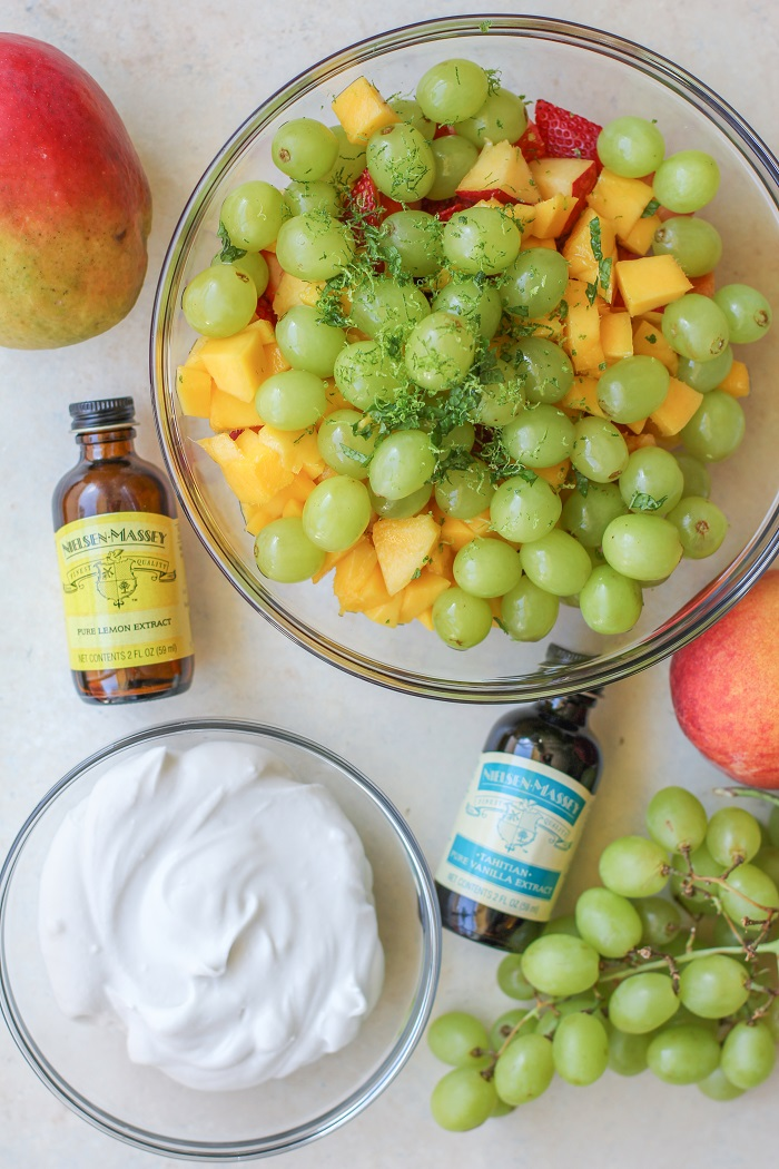 Fruit Salad with Coconut Whipped Cream | TheRoastedRoot.net #healthy #recipe #summer #dairyfree